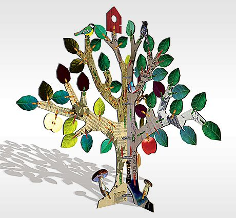 design for kids toys educational tree 3d puzzle for kidz